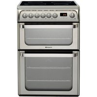 HOTPOINT HUI611 X 60 cm Electric Ceramic Cooker - Stainless Steel, Stainless Steel