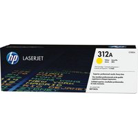 HP 312A Original LaserJet Yellow Toner Cartridge, Yellow