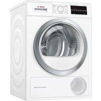 BOSCH Serie 6 WTW85480GB 8 kg Heat Pump Tumble Dryer - White, White