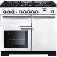 Rangemaster Professional Deluxe 100 Dual Fuel Range Cooker - White, White