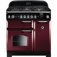 RANGEMASTER Classic 90 Gas Range Cooker - Cranberry and Chrome, Cranberry