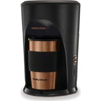MORPHY RICHARDS Coffee on the Go 162743 Filter Coffee Machine - Black, Bronze & Brushed Steel, Brushed Steel