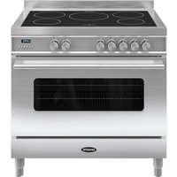 BRITANNIA Delphi 90 Single Electric Induction Range Cooker - Stainless Steel, Stainless Steel