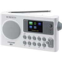 Click to view product details and reviews for Roberts Stream107w Portable Dab Clock Radio White Grey White.