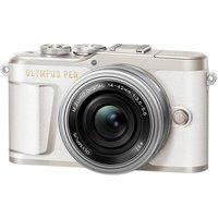 OLYMPUS PEN E-PL9 Mirrorless Camera with M.ZUIKO DIGITAL ED 14-42 mm f/3.5-5.6 EZ Lens - White, White