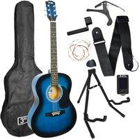 3RD AVENUE Acoustic Guitar Premium Bundle - Blueburst