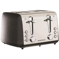 Click to view product details and reviews for Daewoo Glace Noir Sda2105 4 Slice Toaster Black Silver Black.