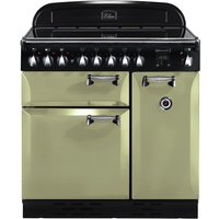 RANGEMASTER Elan 90 Electric Ceramic Range Cooker - Olive, Olive