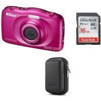 NIKON COOLPIX W100 Tough Compact Camera & Accessories Bundle