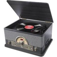 ION Superior LP Bluetooth Wireless Turntable - Black Ash, Black
