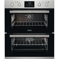 ZANUSSI ZOF35802XK Electric Built Under Double Oven - Stainless Steel, Stainless Steel