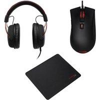 HYPERX Cloud II Pro 7.1 Gaming Headset, Optical Gaming Mouse & Gaming Surface Bundle