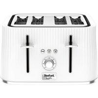 Buy TEFAL Loft TT60140 4-Slice Toaster - Pure White, White - Currys