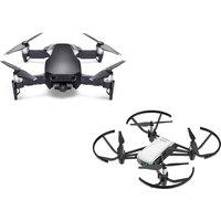 Dji Mavic Air Drone Black & Tello Drone White With Accessory Pack Bundle, Black