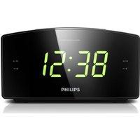 PHILIPS AJ3400/05 FM Clock Radio - Black, Black