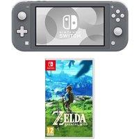 Nintendo Switch Lite & The Legend of Zelda Breath of the Wild Bundle.
