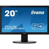 "IIYAMA ProLite E2083HSD-1 20"" LCD Monitor - Black, Black"