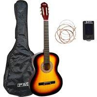 3RD AVENUE STX20 Full Size Classical Guitar Bundle - Sunburst
