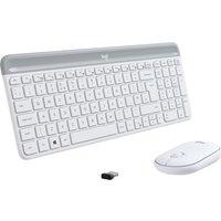 LOGITECH MK470 Wireless Keyboard and Mouse Set - Off-White, White