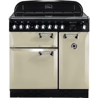RANGEMASTER Elan 90 Electric Ceramic Range Cooker - Cream & Chrome, Cream