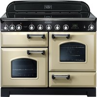 Rangemaster Classic Deluxe 110 Electric Induction Range Cooker - Cream and Chrome, Cream