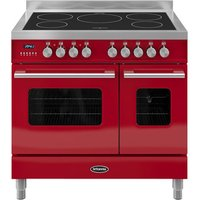 BRITANNIA RC9TIDERED Electric Induction Range Cooker - Gloss Red and Stainless Steel, Stainless Steel
