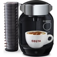 BOSCH TAS7002GB Caddy Hot Drinks Machine - Black & Chrome, Black