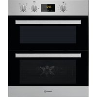 INDESIT Aria IDU 6340 IX Electric Built-under Double Oven - Stainless Steel, Stainless Steel