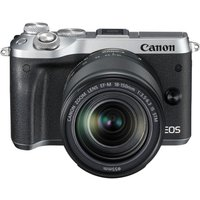 CANON EOS M6 Mirrorless Camera with 18-150 mm f/3.5-6.3 Wide-angle Zoom Lens - Silver, Silver