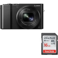 PANASONIC Lumix DMC-TZ100EB-K High Performance Compact Camera & Memory Card Bundle