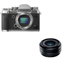 FUJIFILM X-T2 Mirrorless Camera and Fujinon XF 18 mm f/2 R Wide-angle Lens Bundle, Graphite