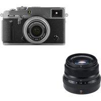 Fujifilm X-pro2 Mirrorless Camera, 23 Mm F/2 Lens & Fujinon Xf 35 Mm F/2.0 R Wr Standard Prime Lens Bundle - Graphite, Graphite