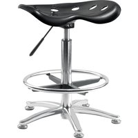 TEKNIK OF5004-ST BLK Polypropylene Chair - Black, Black