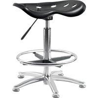 TEKNIK OF5004-ST BLK Polypropylene Chair - Black, Black