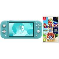 NINTENDO Switch Lite & Super Mario 3D All-Stars Bundle - Turquoise, Turquoise