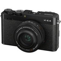 FUJIFILM X-E4 Mirrorless Camera with FUJINON XF 27 mm f/2.8 R WR Lens - Black