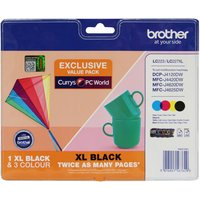 BROTHER LC223/LC227XL Tri-colour & Black Ink Cartridges - Multipack, Black
