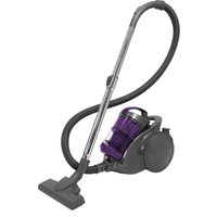 RUSSELL HOBBS Turbo Cyclonic Pro RHCV2002 Bagless Cylinder Vacuum Cleaner - Gunmetal Grey & Purple, Grey
