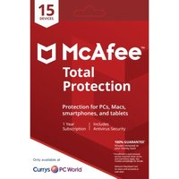 MCAFEE Total Protection - 1 user / 15 devices for 1 year.