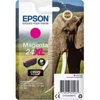 EPSON 24XL Elephant Magenta Ink Cartridge, Magenta