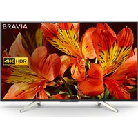 75 Sony Bravia Kd75xf8596bu Smart 4k Ultra Hd Hdr Led Tv, Silver