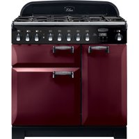 Rangemaster Elan Deluxe ELA90DFFCY 90 cm Dual Fuel Range Cooker - Cranberry and Chrome, Cranberry