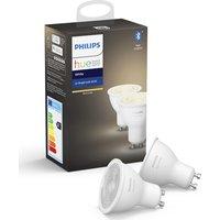 Philips HUE White Bluetooth LED Bulb - GU10, Twin Pack, White