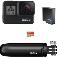 Gopro HERO7 Black Action Camera with Shorty Mount & microSD card, Black