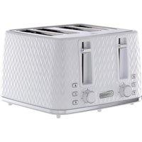 DAEWOO Argyle Collection SDA1864 4-Slice Toaster - White, White