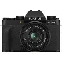 FUJIFILM X-T200 Mirrorless Camera with FUJINON XC 15-45 mm f/3.5-5.6 OIS PZ Lens - Black, Black