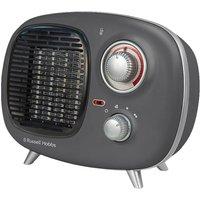 RUSSELL HOBBS Retro RHRETPTC2001G Portable Hot & Cool Fan Heater - Grey, Grey