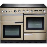 Rangemaster Professional+ 110 Electric Induction Range Cooker - Cream and Chrome, Cream