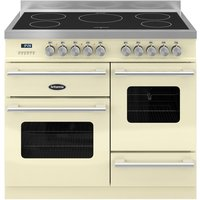 BRITANNIA Delphi 100 XG Electric Induction Range Cooker - Gloss Cream & Stainless Steel, Stainless Steel