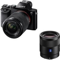 Sony A7 Mirrorless Camera With Zoom Lens & Sonnar Standard Prime Lens Bundle